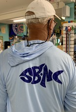 SBNC FISH BLUE INK UPF HOODIE