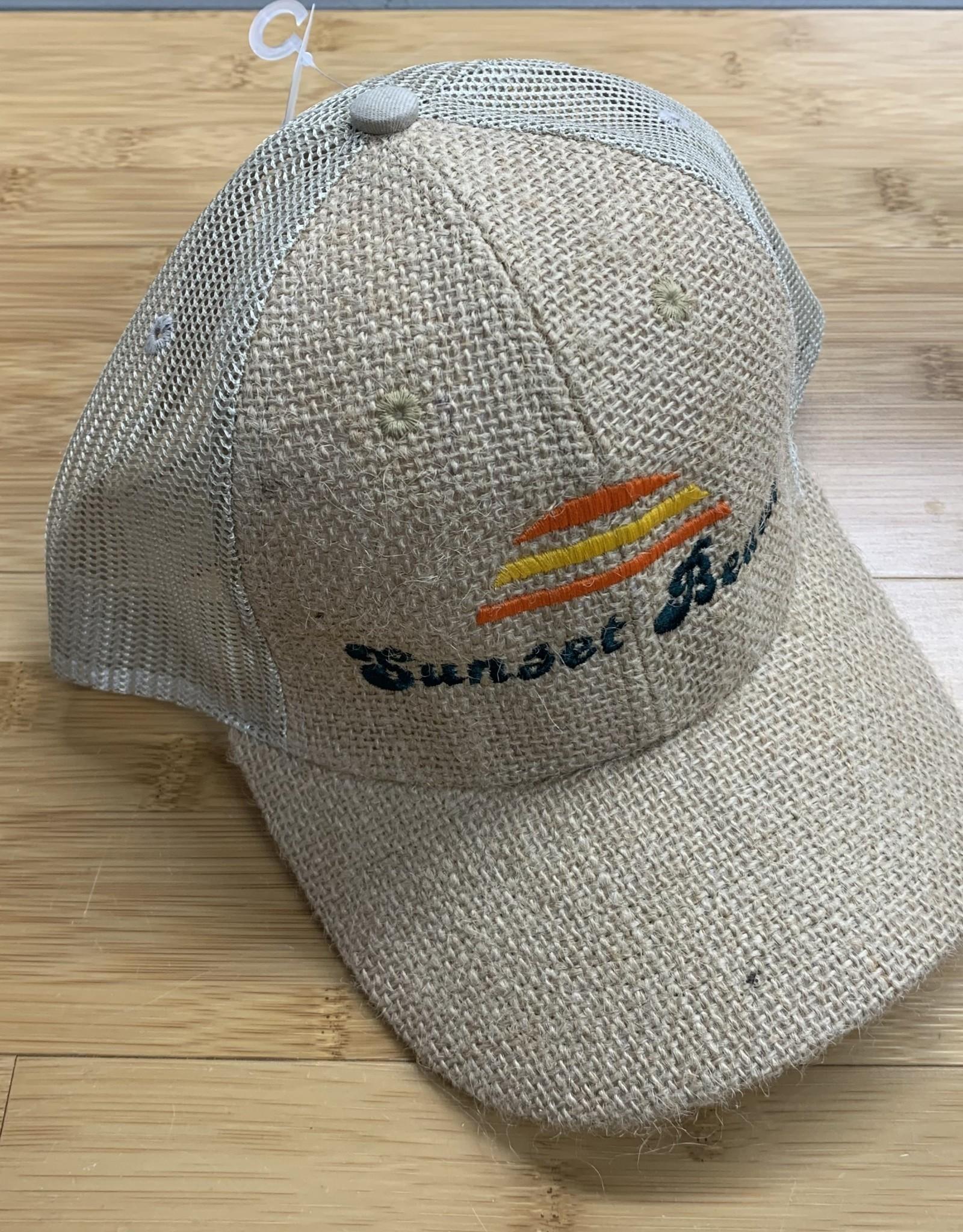 SB BURLAP TRUCKER CAP