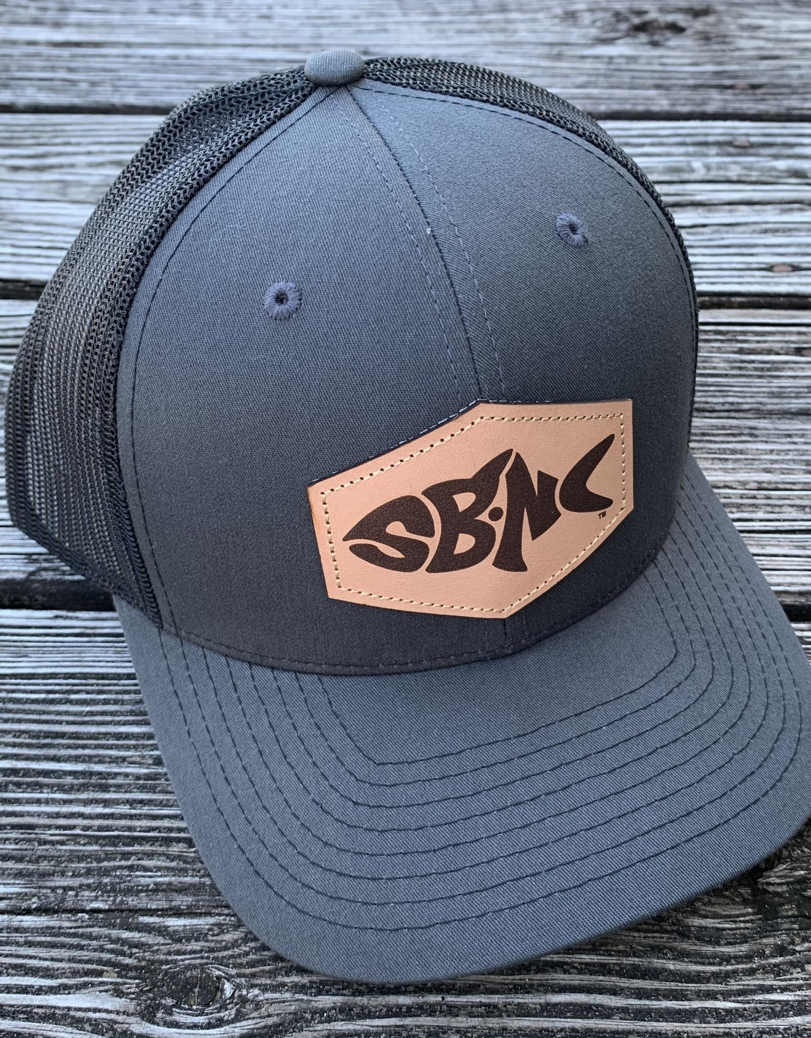sbncfish SBNC FISH PATCH CAP CHAR/BLK