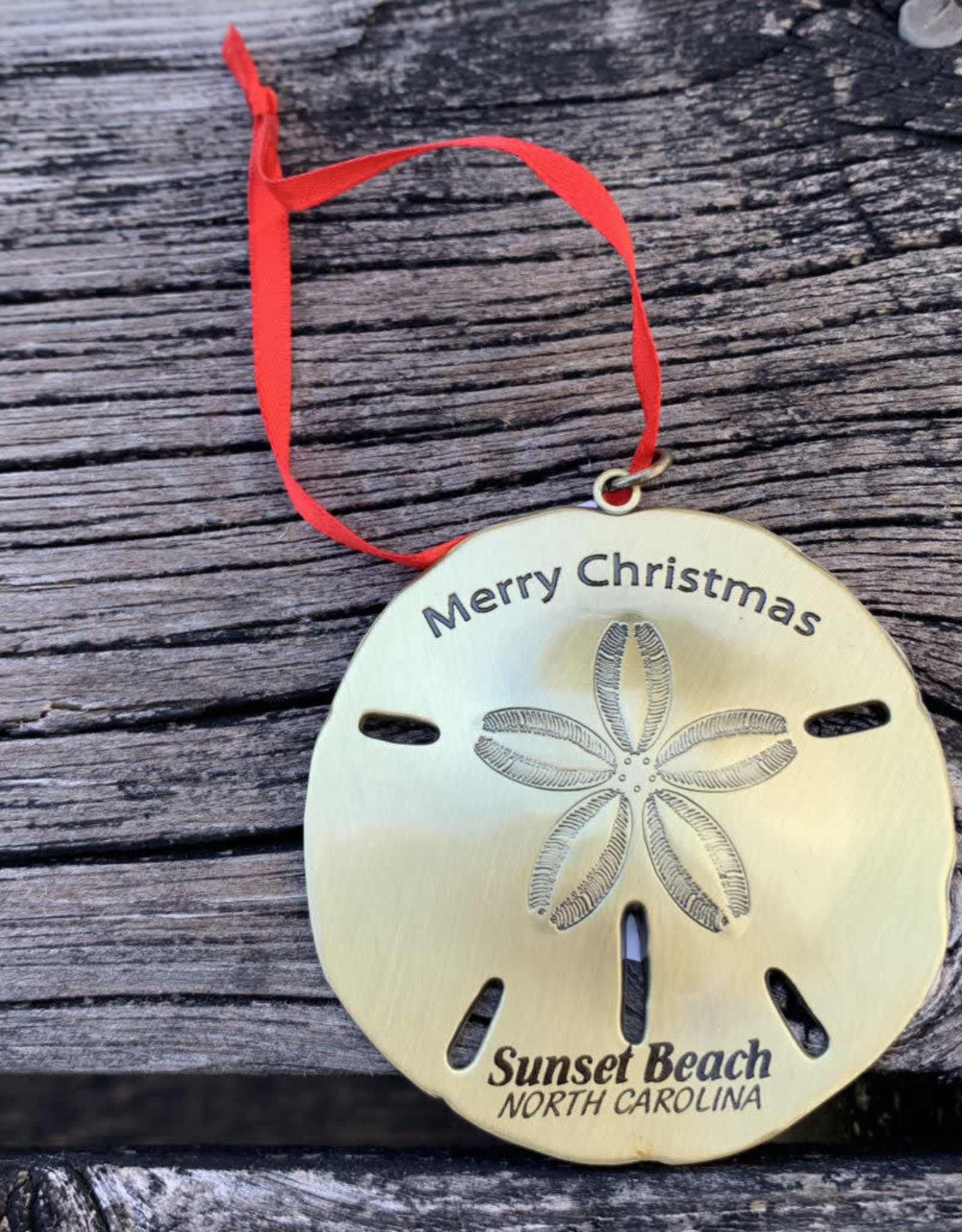 SAND DOLLAR METAL ORNAMENT (GOLD)