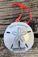 SAND DOLLAR METAL ORNAMENT (SILVER)