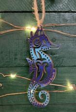 SEAHORSE ORNAMENT (BLUE/AQUA)