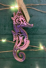 SEAHORSE ORNAMENT (PINK/PURP)