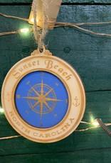 COMPASS CIRCLE ORNAMENT (BLUES)
