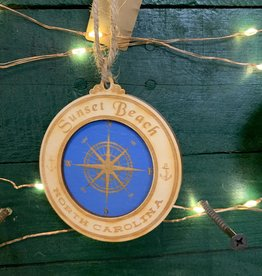 COMPASS CIRCLE ORNAMENT (BLUES)