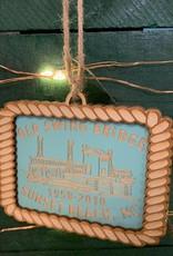 OLD SWING BRIDGE ORNAMENT (TEAL)