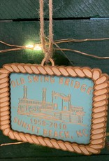 OLD SWING BRIDGE TEAL ORNAMENT