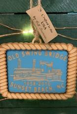 OLD SWING BRIDGE ORNAMENT (AQUA)