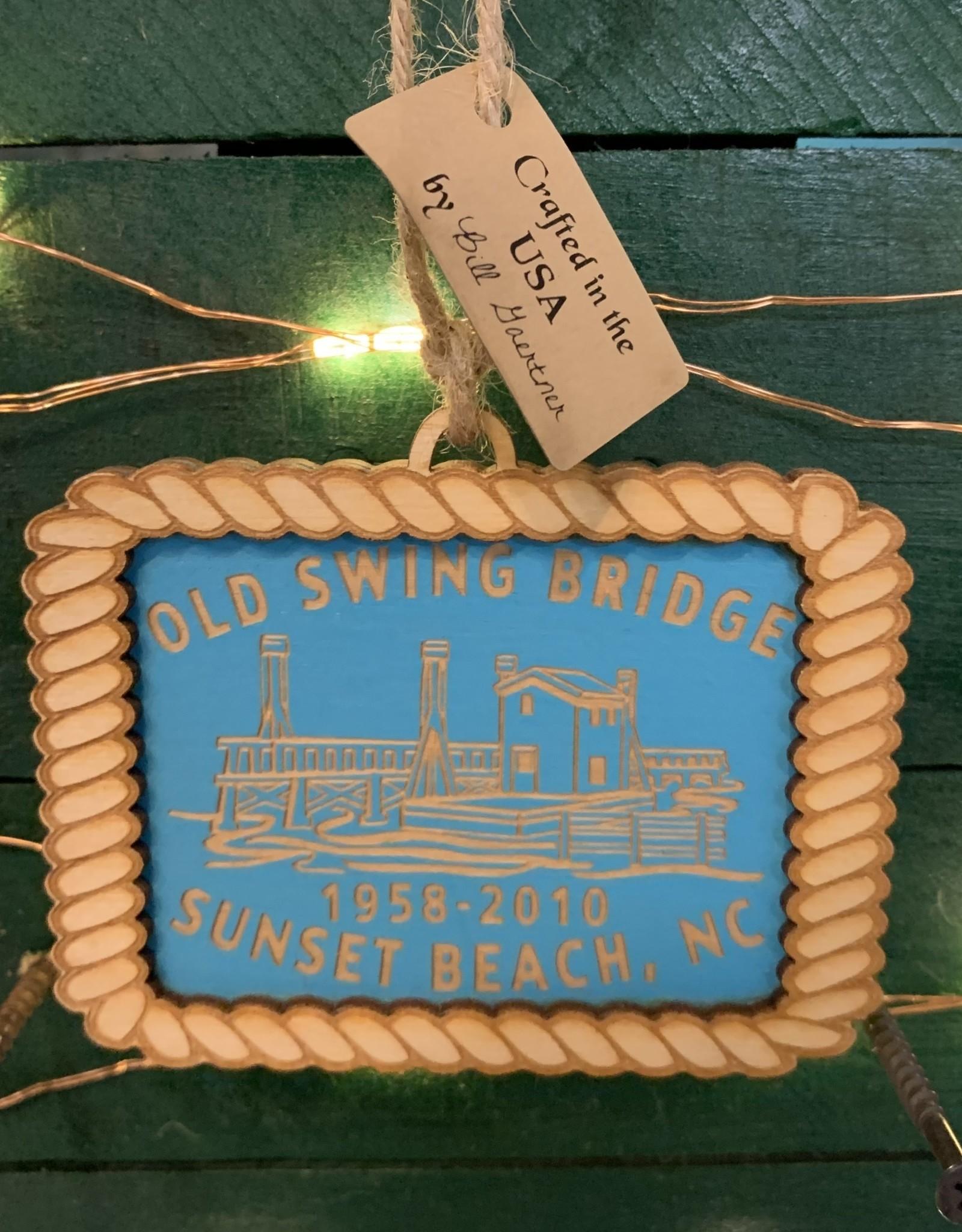 OLD SWING BRIDGE AQUA ORNAMENT