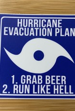 STICKER (L) HURRICANE EVACUATION
