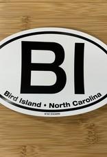 STICKER (L) BIRD ISLAND OVAL