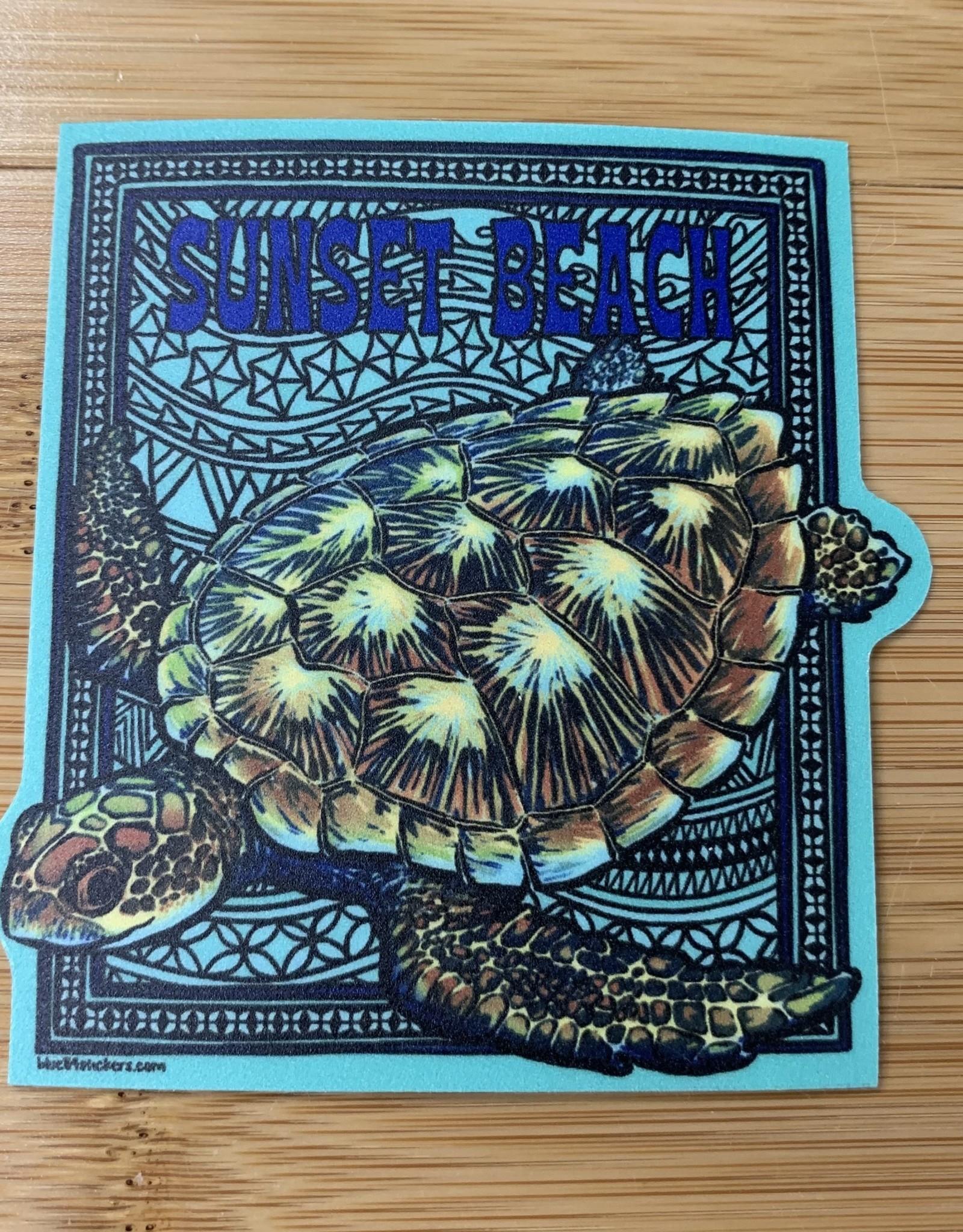 STICKER (L) MOSAIC SEA TURTLE