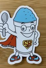 STICKER (L) SNO-BALL MAN!