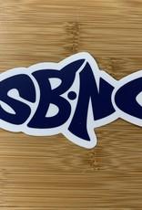 sbncfish STICKER (L) SBNC FISH NAVY