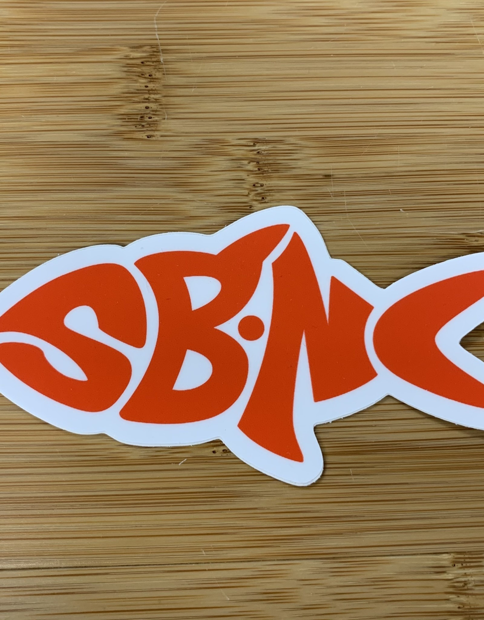 sbncfish STICKER (L) SBNC FISH RED
