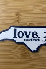 STICKER (L) LOVE SB NC STATE