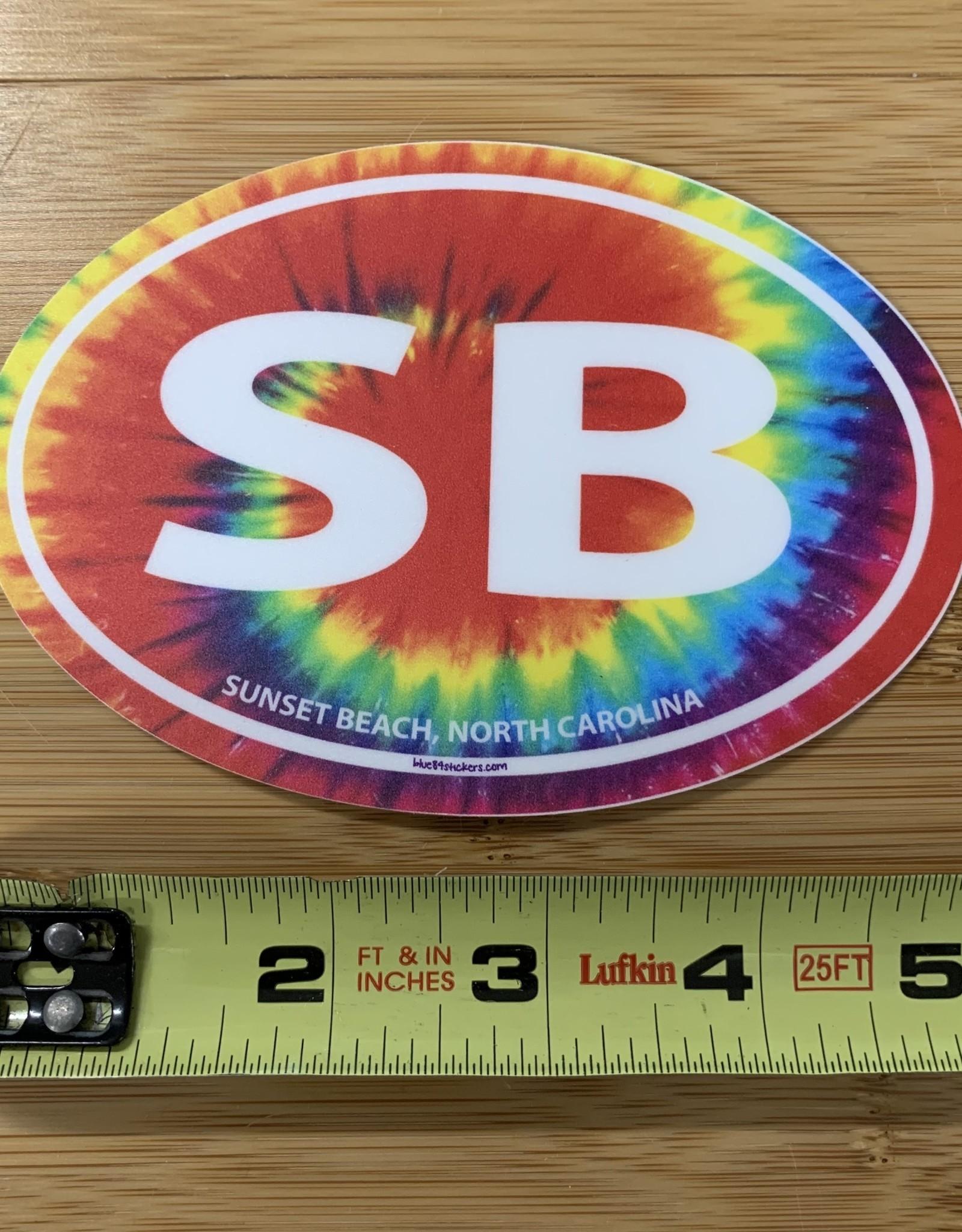STICKER (L) SB OVAL RAINBOW TIE-DYE