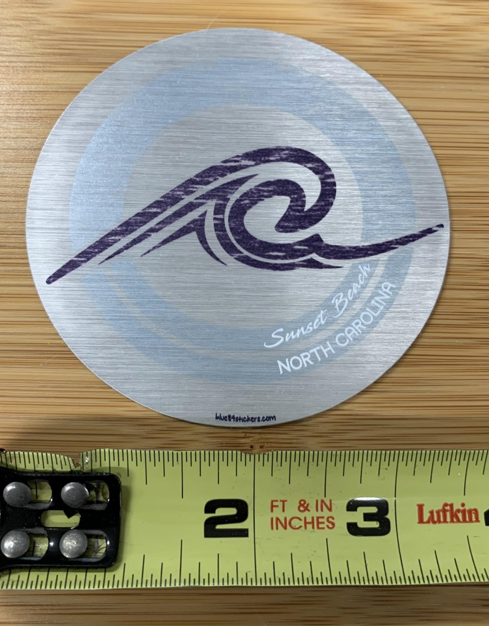 STICKER (L) METALLIC WAVE CIRCLE