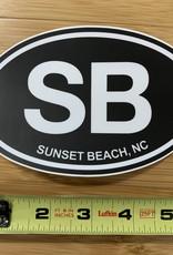 STICKER (L) SB BLACK OVAL