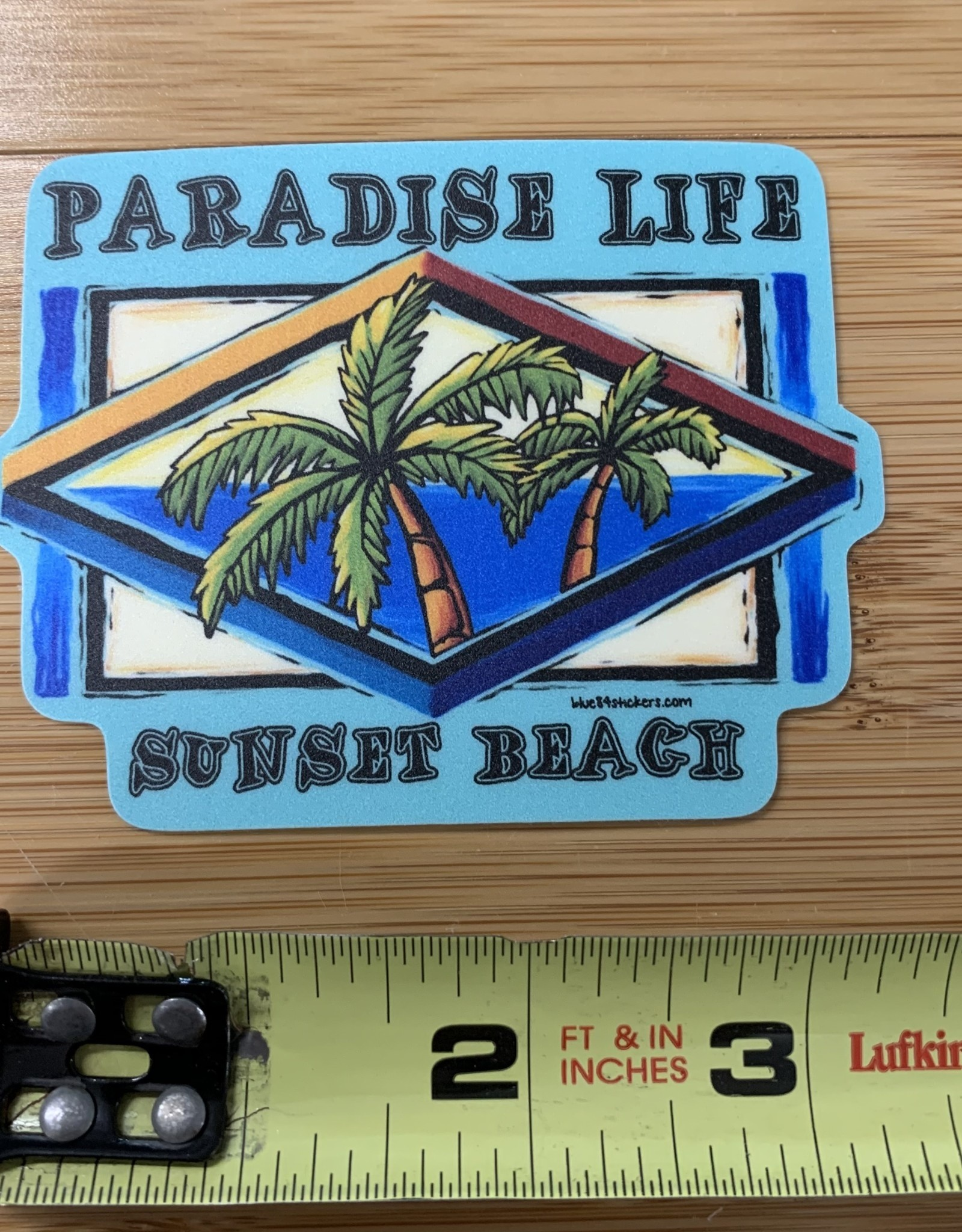 STICKER (L) PARADISE LIFE PALMS