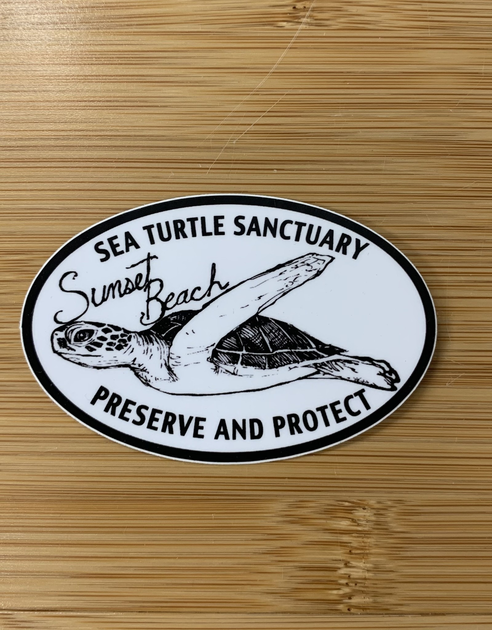 STICKER (S) TURTLE SANCTUARY OVAL