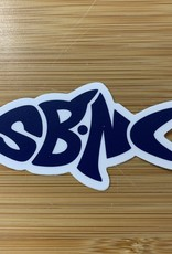 sbncfish STICKER (S) SBNC FISH NAVY