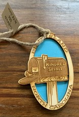KINDRED SPIRIT KINDRED SPIRIT OVAL BILEVEL ORNAMENT (LAGOON)