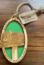 KINDRED SPIRIT KINDRED SPIRIT OVAL BILEVEL ORNAMENT (GREEN)