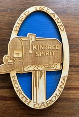 KINDRED SPIRIT KINDRED SPIRIT OVAL BILEVEL MAGNET (ROYAL)