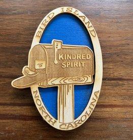 KINDRED SPIRIT KINDRED SPIRIT OVAL BILEVEL MAGNET (ROYAL)