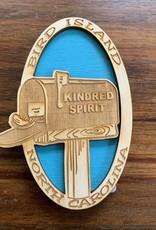 KINDRED SPIRIT KINDRED SPIRIT OVAL BILEVEL MAGNET (LAGOON)