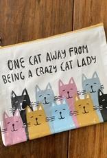 ONE CAT AWAY ZIPPER POUCH