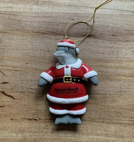 DOLPHIN SANTA ORNAMENT
