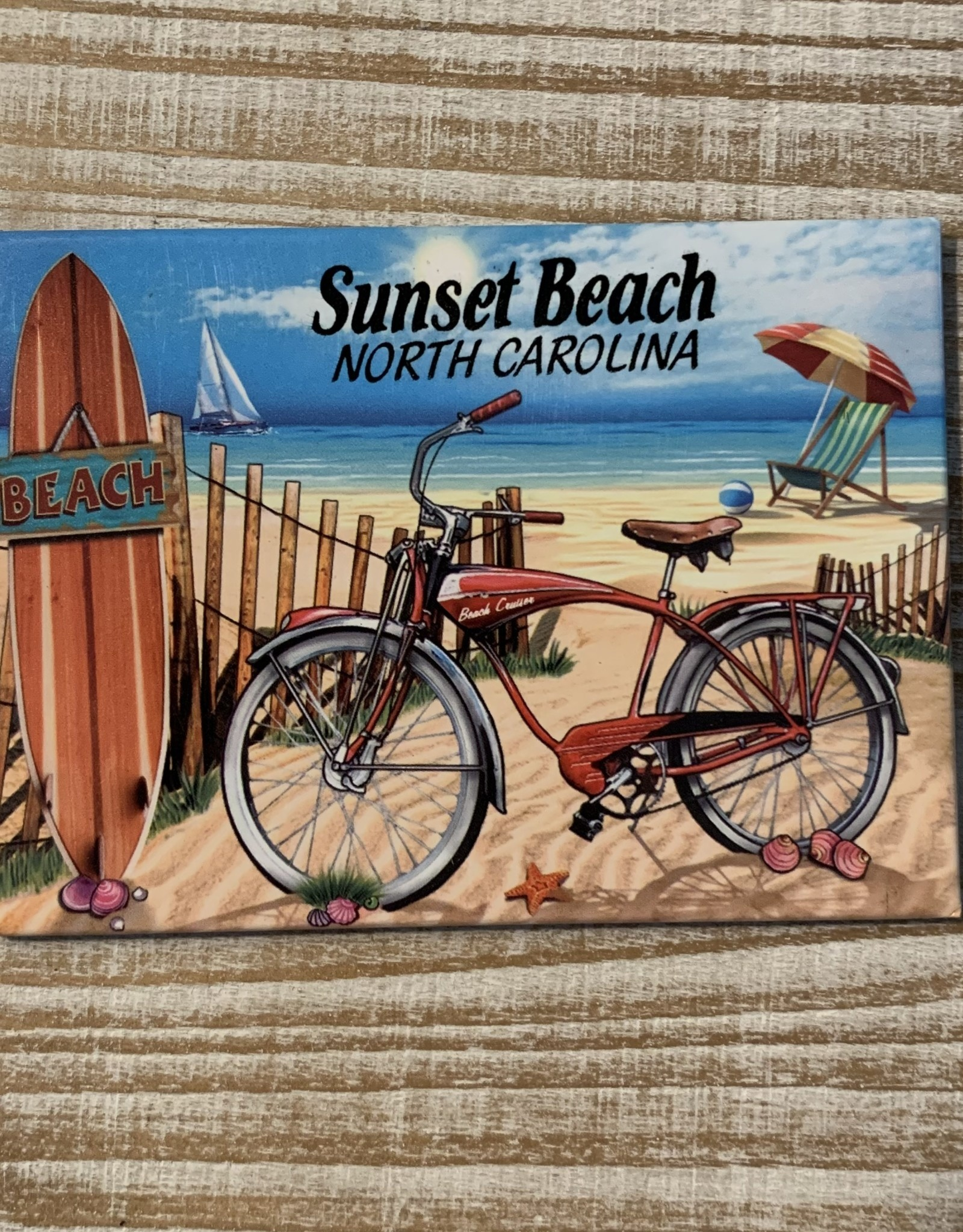 BIKE BEACH SCENE MAGNET