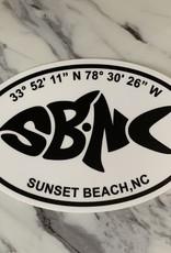 sbncfish STICKER (L) SBNC FISH LAT/LONG OVAL