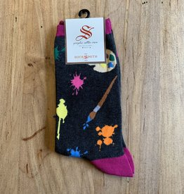 PAINTERS PALLET WOMENS SOCKS CHARCOAL HEATHER