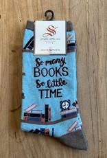 TIME 4 GOOD BOOK WOMENS SOCKS BLUE HEATHER