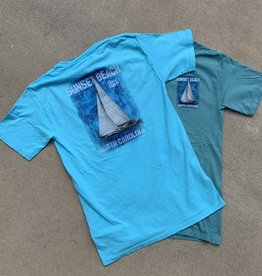 BLUE BOARD SAILBOAT TEE