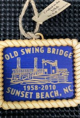 OLD SWING BRIDGE COBALT ORNAMENT