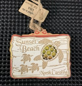 TURTLE FAMILY SUNSET ORNAMENT