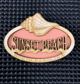 KINDRED SPIRIT CONCH OVAL SALMON MAGNET
