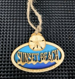 SAND DOLLAR OVAL OCEAN ORNAMENT