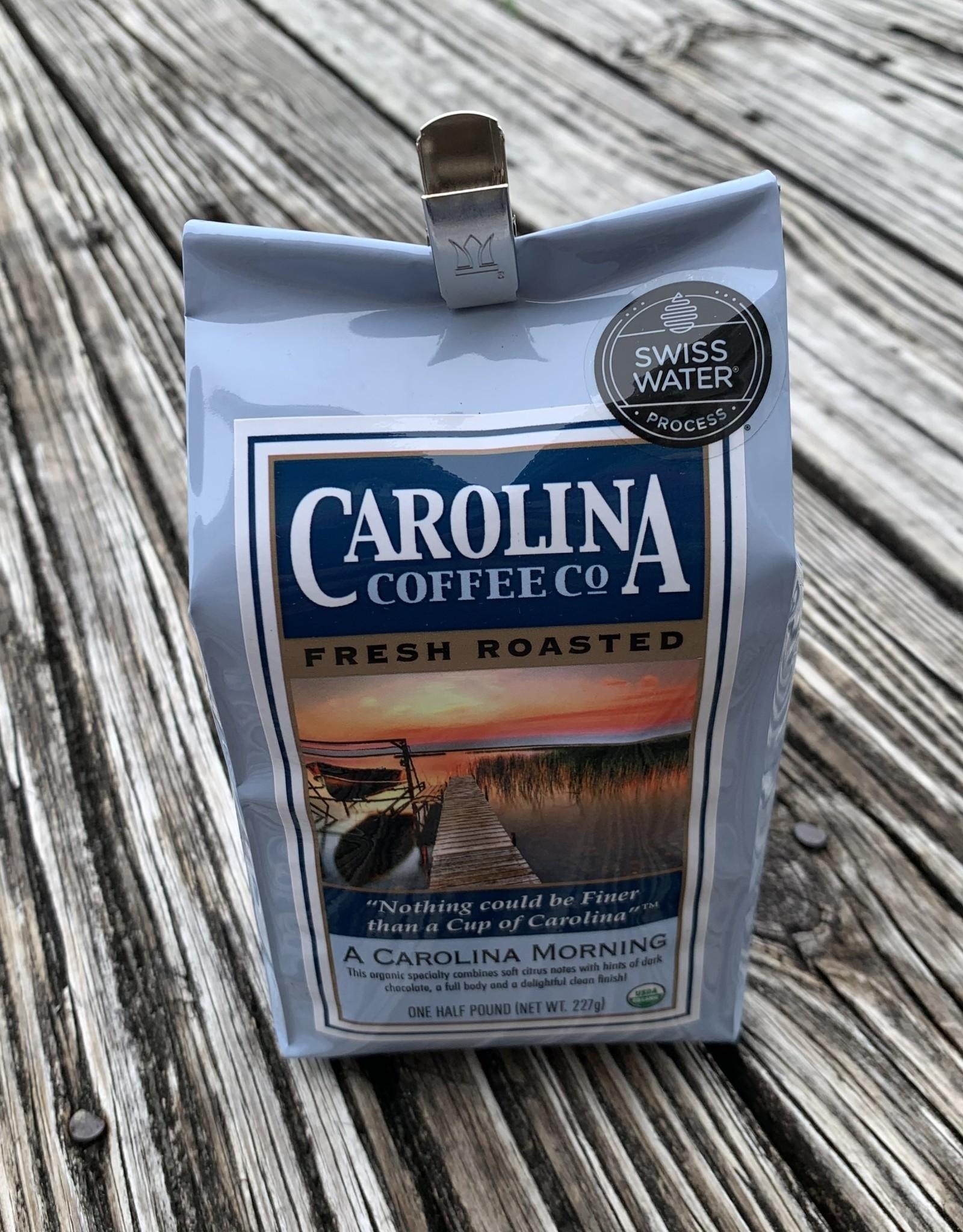 CAROLINA MORNING DECAF HALF LB COFFEE