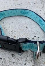 PET COLLAR SBNC FISH & PAWS AQUA LRG