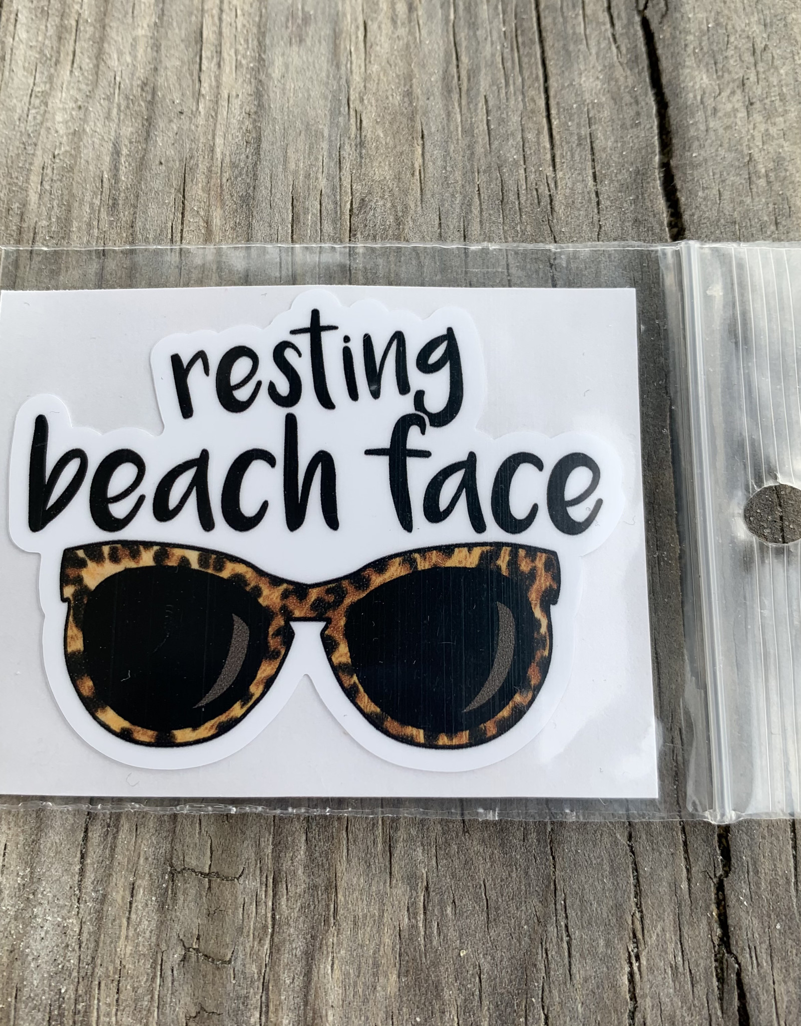 RESTING BEACH FACE STICKER (CELL)