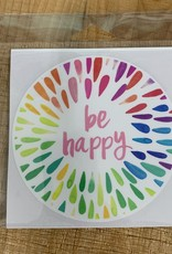 BE HAPPY STICKER (LARGE)