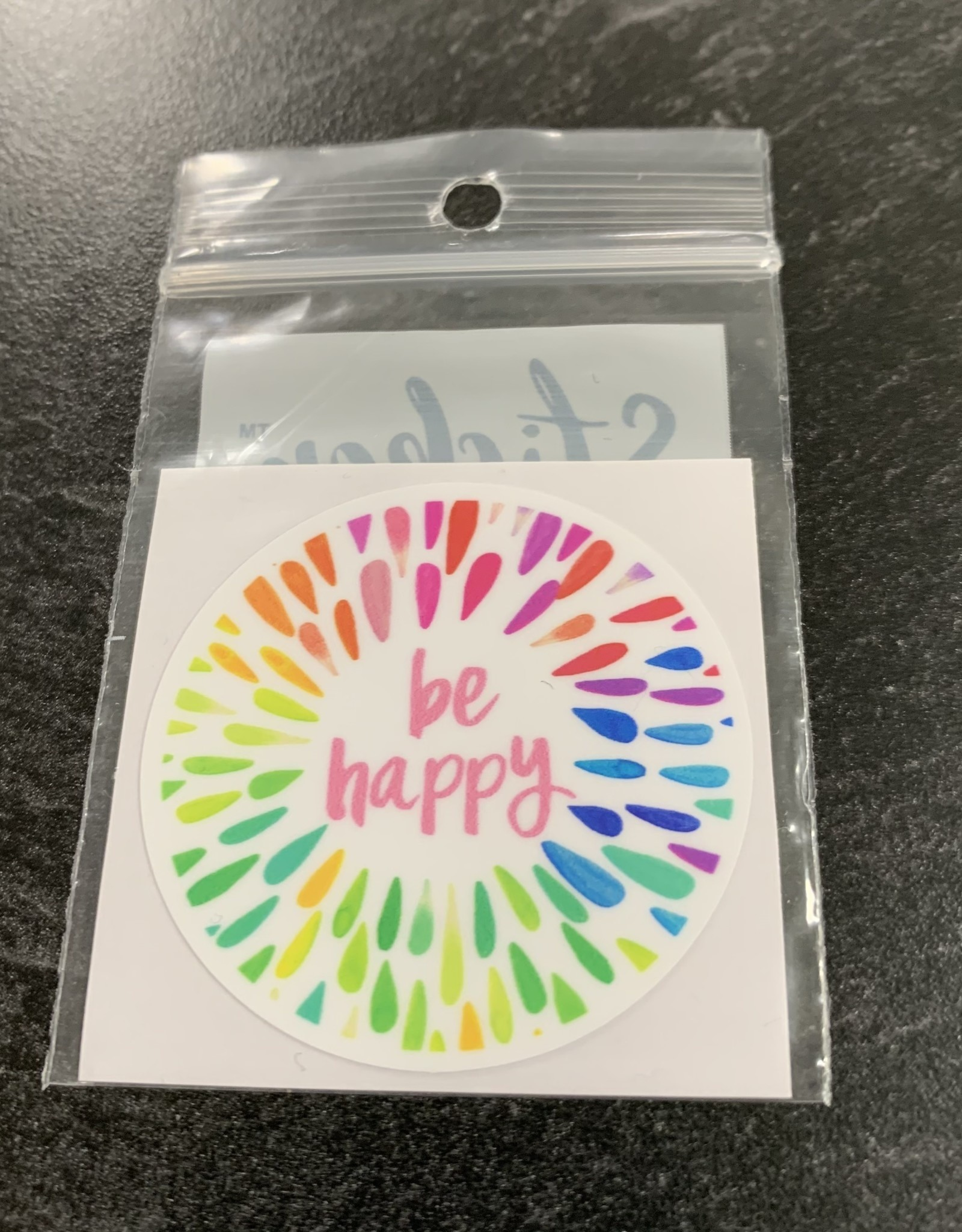 BE HAPPY STICKER (CELL)