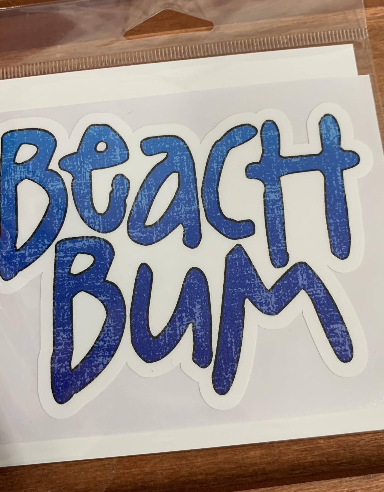 BEACH BUM STICKER (LARGE)