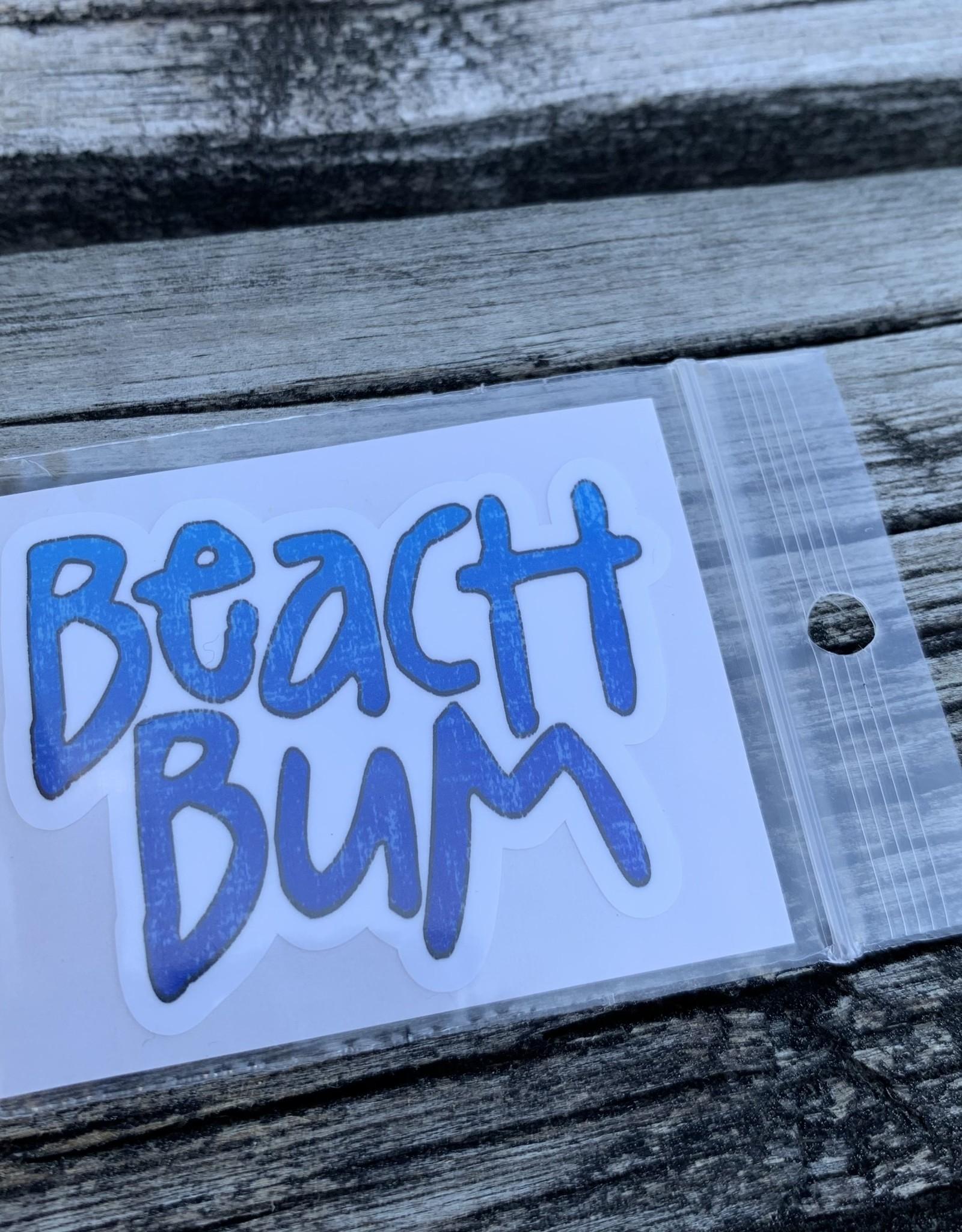 BEACH BUM STICKER (CELL)