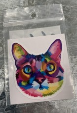 RAINBOW CAT FACE STICKER (CELL)